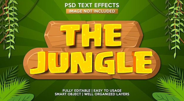 Modello di effetto testo giungla