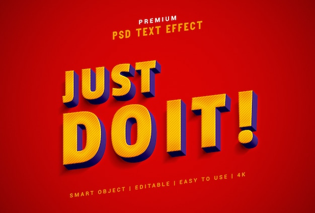 Just do it text effect generator premium psd
