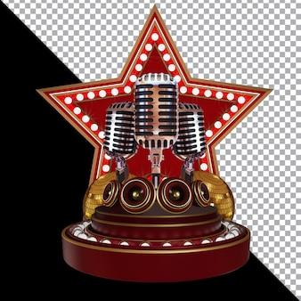 Il fine settimana di karaoke 3d rende la composizione isolata