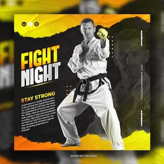 Karate social media postinstagram banner sport promozione instagram