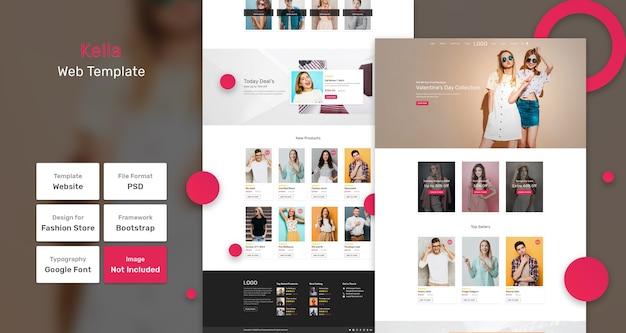 Modello web del negozio di moda kella