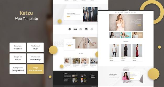 Modello web del negozio di moda ketzu Psd Premium