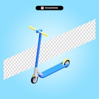 Illustrazione di rendering 3d del motorino di scossa isolata