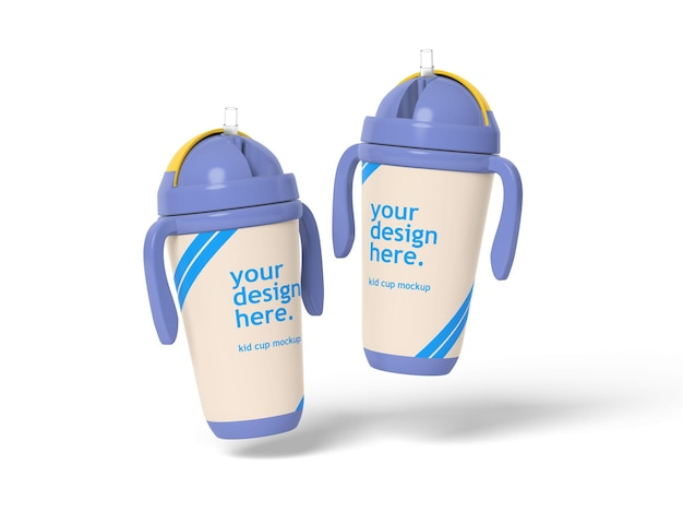 Kid cups mockup