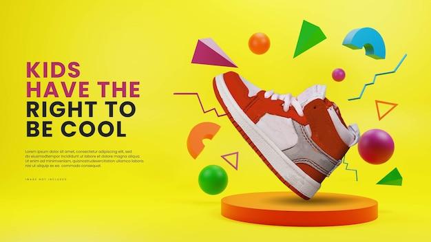Espositore per prodotti da podio colorato per bambini