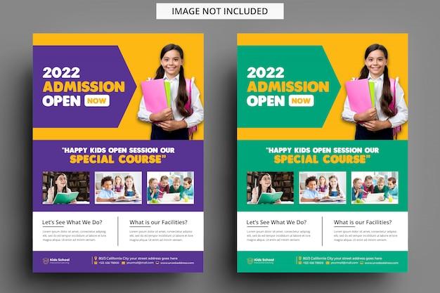 Modello volantino - ammissione all'istruzione dei bambini