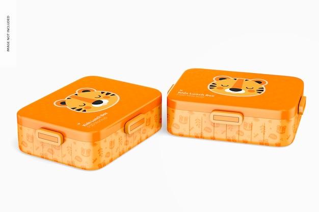 Mockup di scatole per il pranzo per bambini