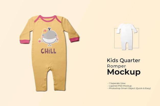 Mockup di pagliaccetto quarto per bambini
