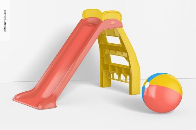 Mockup di diapositive per bambini, vista a destra