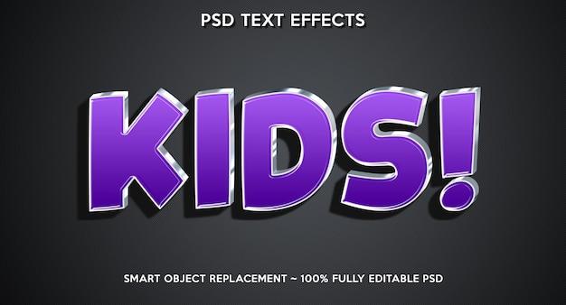 Kids text effect modern