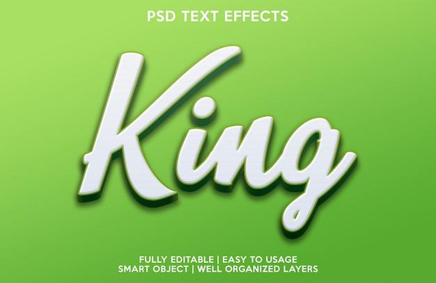 Effetto king text