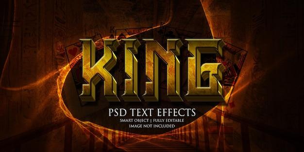 King testo effetto