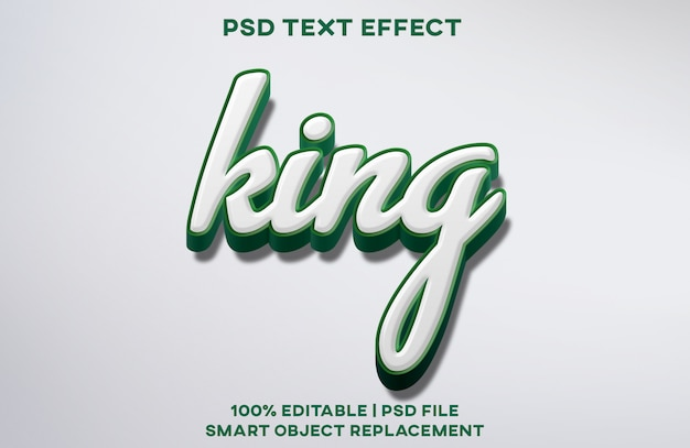 King text effect
