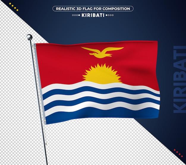 Bandiera di kiribati con texture realistica