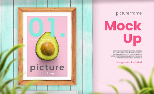Cucina picture frame mockup