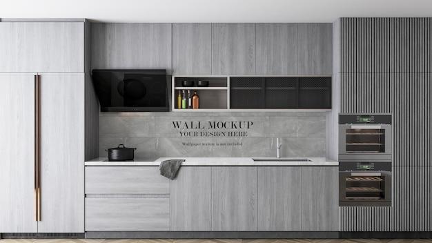 Mockup di superficie della parete della cucina