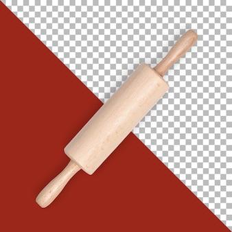 Perno a rullo in legno da cucina isolato