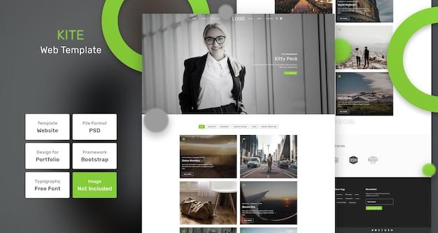 Modello web di portfolio di aquiloni