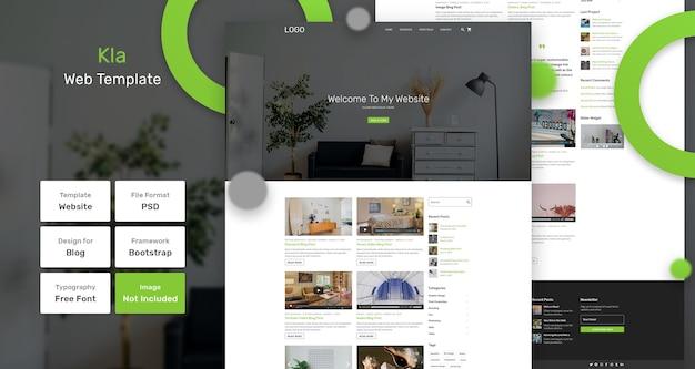 Modello di pagina web kla