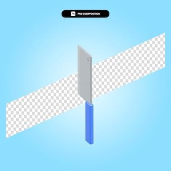 Coltello 3d rende l'illustrazione isolata