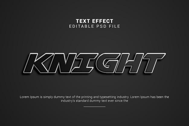 Effetto di testo modificabile knight 3d