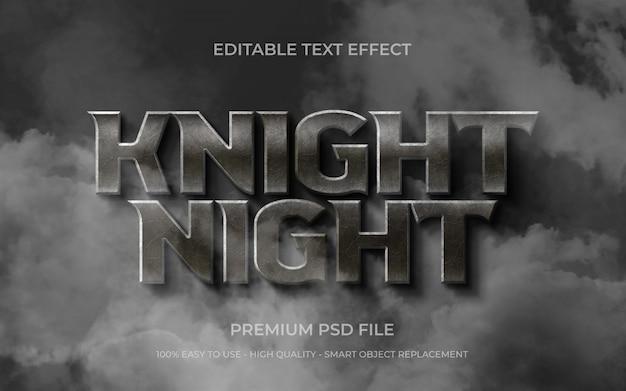 Testo modificabile knight night
