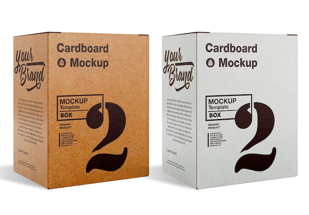 Kraft box mockup design isolato
