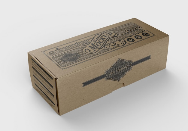Mockup di scatola kraft