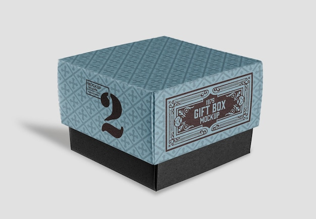 Mockup di scatola di cartone kraft