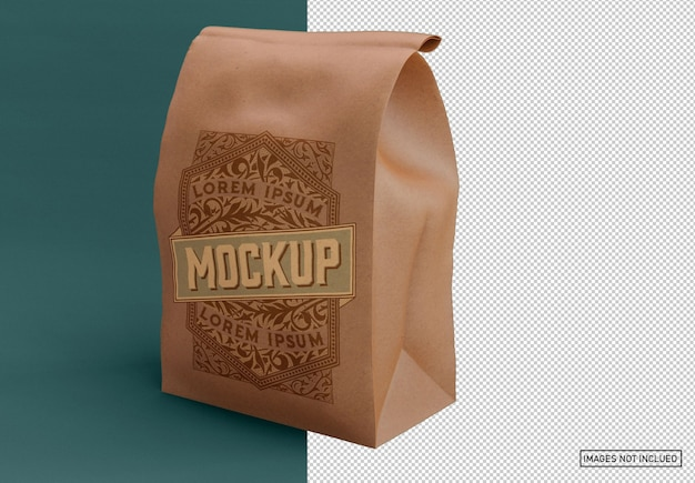 Mockup di borsa per alimenti kraft