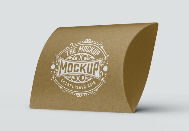 Mockup di scatola regalo kraft