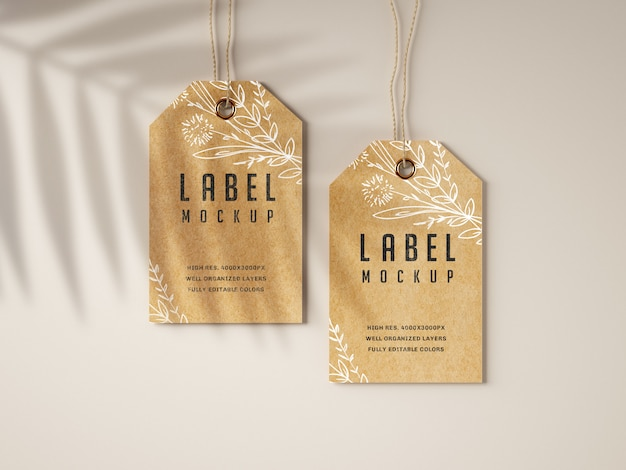 Set di modelli di etichette kraft