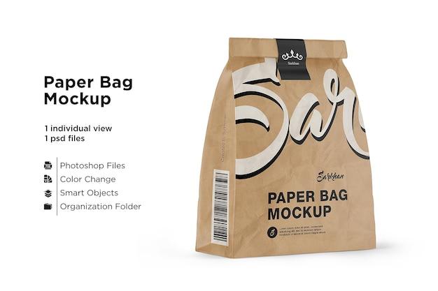 Mockup di sacchetto di carta kraft isolato