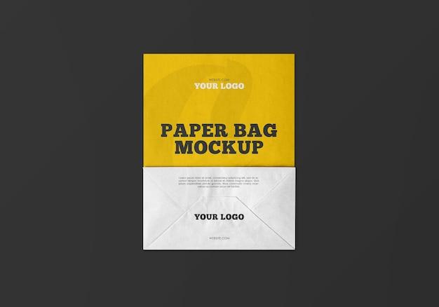 Mockup di sacchetto di carta kraft