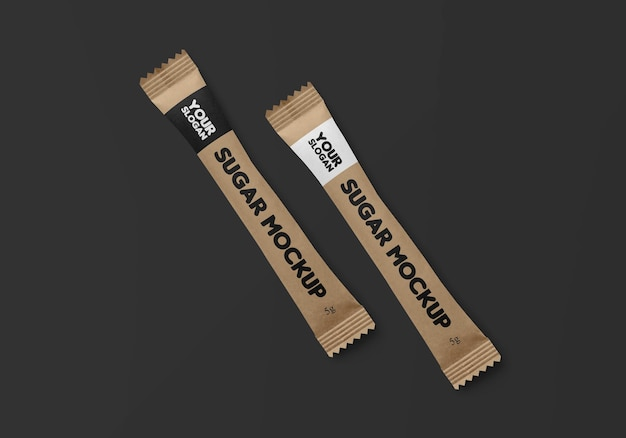 Design mockup bustina stick kraft