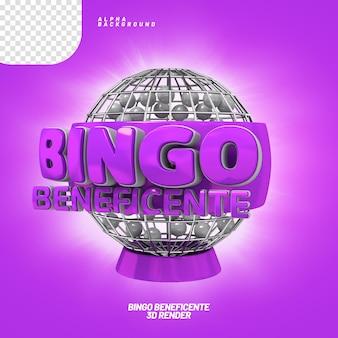 Etichetta 3d bingo benefico