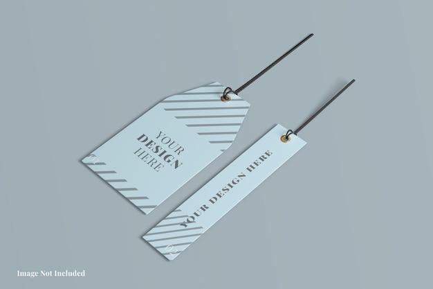 Etichetta tag mockup design design