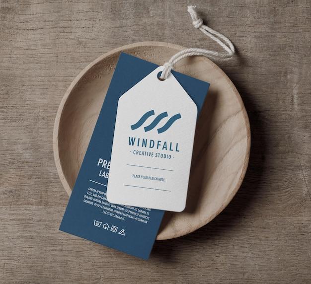 Modello di mockup di etichetta tag