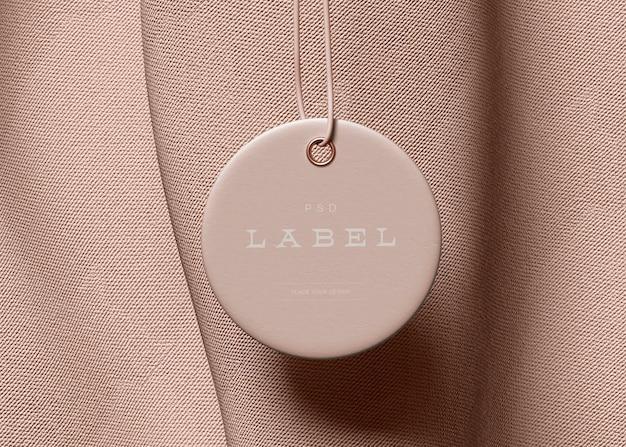 Mockup di tag etichetta