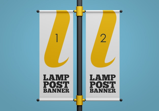 Mockup di banner lampione