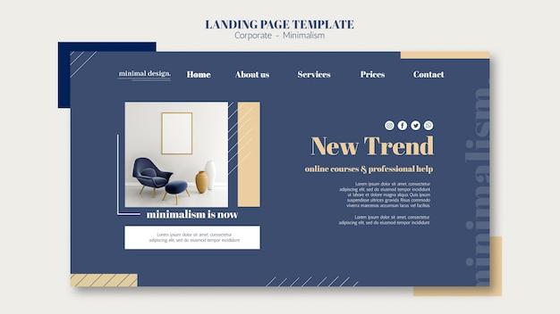 Pagina di destinazione per l'interior design