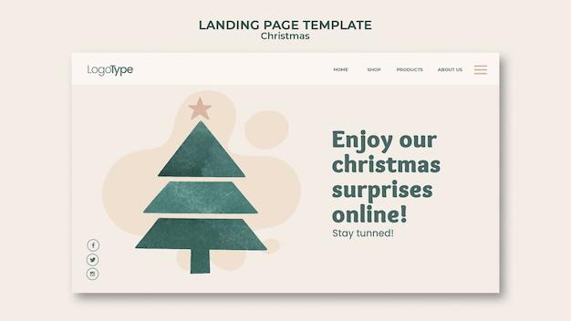 Pagina di destinazione online modello di shopping natalizio