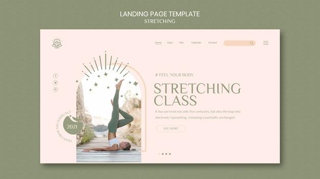 Pagina di destinazione per il corso di stretching