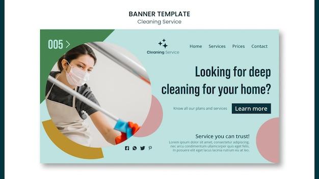 Modello di pagina di destinazione per un'impresa di pulizie domestiche
