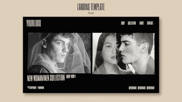 Modello di pagina di destinazione per la nuova collezione di moda