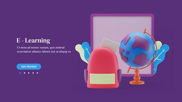 Modello di pagina di destinazione dell'apprendimento online