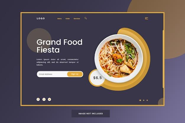 Modello di pagina di destinazione per gustosi ramen