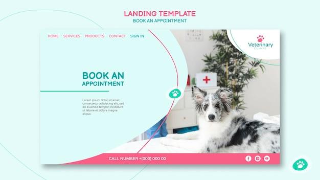 Modello di pagina di destinazione per appuntamento dal veterinario