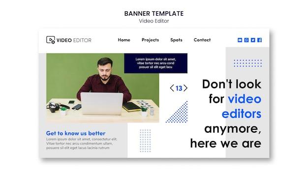 Modello di pagina di destinazione per workshop di editing video
