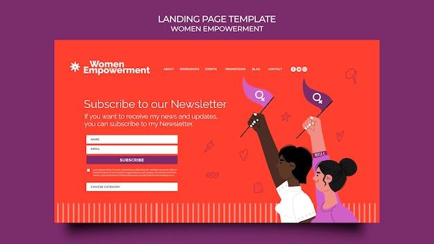 Modello di pagina di destinazione per l'emancipazione delle donne Psd Premium